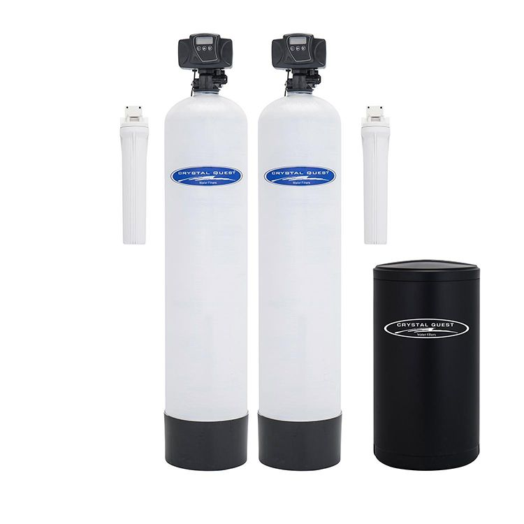 Dual tank water softener
